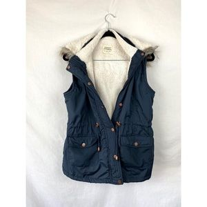 NWOT Ashley Vest with Faux Fur Hood